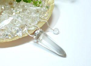 ヒマラヤ水晶ペンデュラム(hpe008-b)