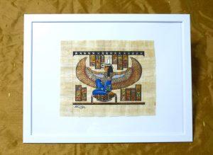 パピルス・羽を得たイシス女神(egyptp005)