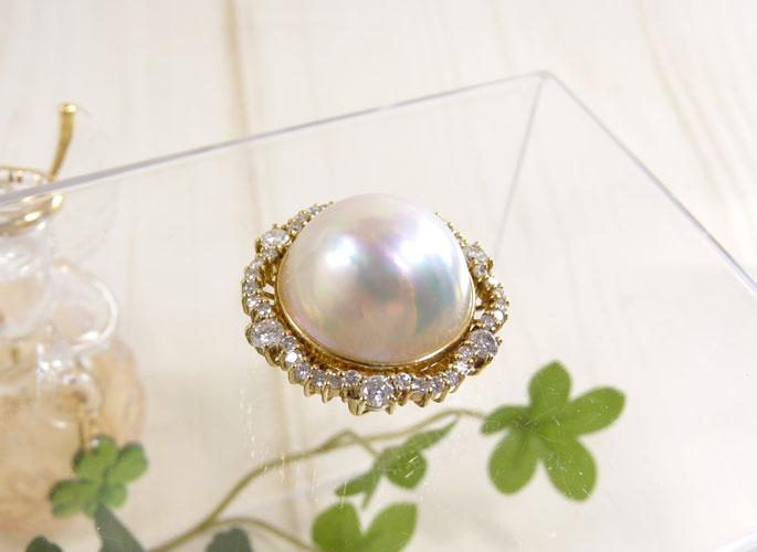 マベパール & ダイヤモンド K18 ジュネスク
