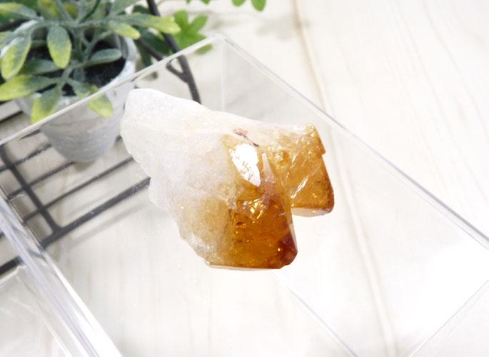 ブラジル産シトリンの結晶