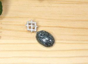 プレセリブルーストーンとダイヤモンドのGAR シルバーペンダント(11-14bo0209-14)