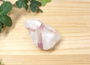 ブラジル産 ピンクトルマリン 結晶付き原石(gem-pt003)