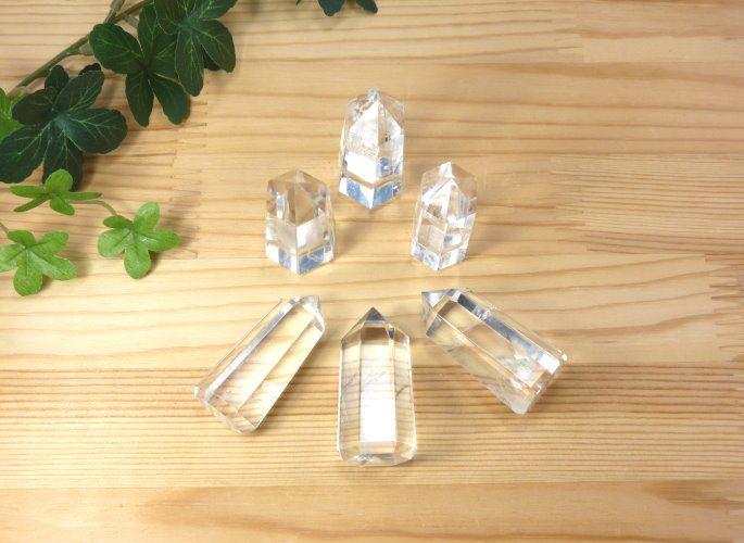 高級ヒマラヤ水晶シールド・ジェネレーター(6面カット)6本セット