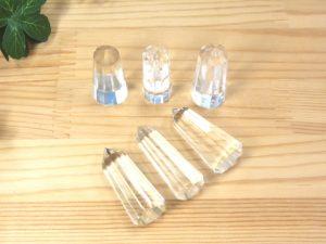 ヒマラヤ産クリスタル シールド・ジェネレーター(12面カット)6本セット(bari12-008)
